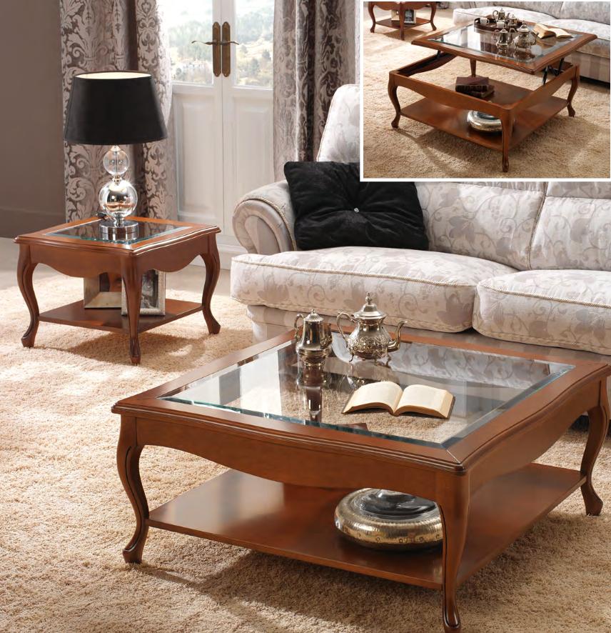 couchtisch quadratisch in kirsche oder nussbaum klassische stilm bel. Black Bedroom Furniture Sets. Home Design Ideas