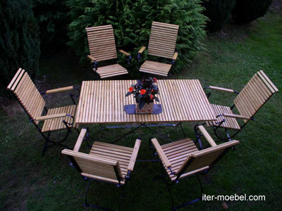 Klassische Gartenmöbel Iter Robinienholz Fsc Metall Direkt Vom