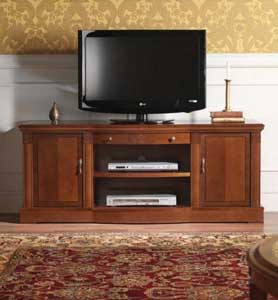 italienische tv m bel und fernsehschr nke im klassischen stil kirschbaum und nussbaum online. Black Bedroom Furniture Sets. Home Design Ideas