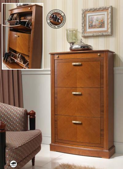 garderobe schuhschr nke schuhkommoden massiv holz kirsche nussbaum. Black Bedroom Furniture Sets. Home Design Ideas