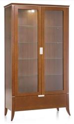 Vitrinen anrichten highboard moderner stil kirsche for Kirschbaum vitrine